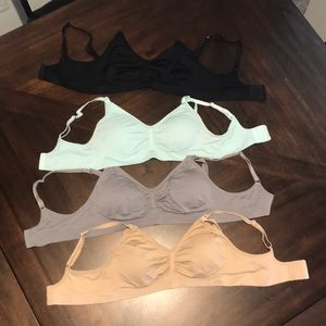 Bundle of 4 Motherhood Maternity nursing bras